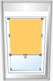 Mittelzug Rollo für Dachfenster